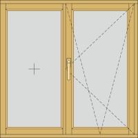 Двосекційне з однією відкривною частиною