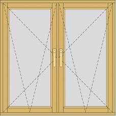 Двосекційне з двома відкривними частинами