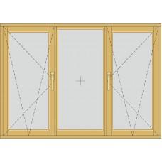 Трьохсекційне з двома відкривними частинами